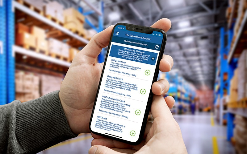 The Warehouse Auditor app in use